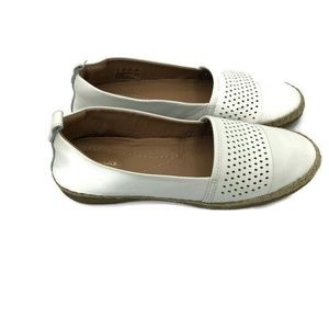 Clark's Artisan White Leather Loafers Flats 8.5M
